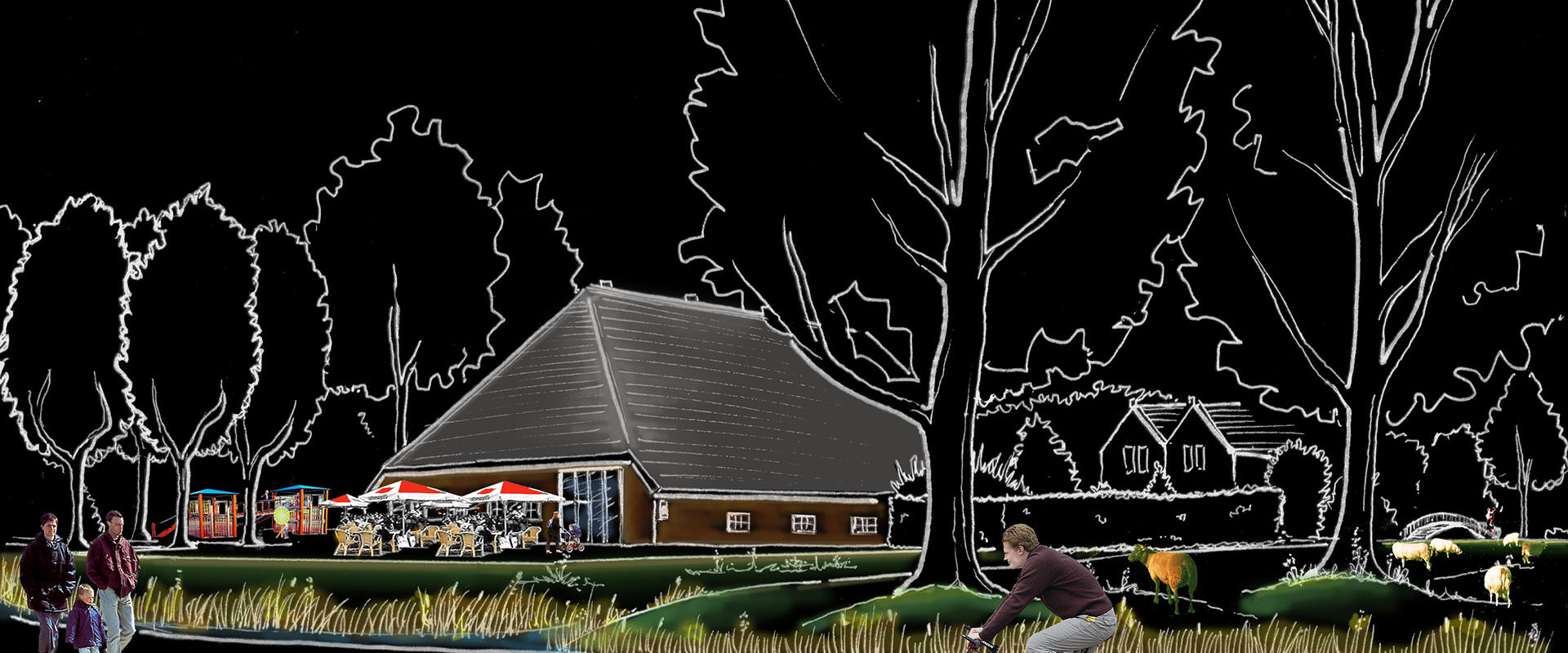 schets gezinsboerderij Overkamp